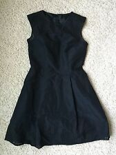 NWT J Crew Perforated A-line Dress in Black Sz 00 XS B9821 $148 Perfect Party