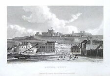 KENT, DOVER SEA FRONT & CASTLE , Westall Steel Engraved Antique Print 1829