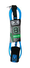 8ft SURFBOARD LEASH, Ocean & Earth Surfboard Leg Leash, Quality Leash, Blue, NEW