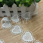 Vintage White Heart Lace Trim Wedding Bridal Dress Ribbon Applique Sewing Craft