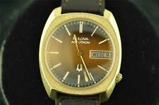VINTAGE MENS 218 BULOVA ACCUTRON DAY/DATE FROM 1976 KEEPING TIME