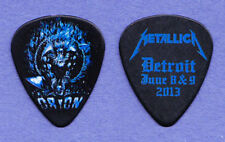Metallica James Hetfield Orion Festival Black Guitar Pick 2013 Tour Detroit