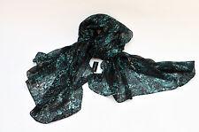 """(GUESS CIOSING ) Women's Fashion Scarf, Green 70"""" length x 35"""" width 100% rayan"""