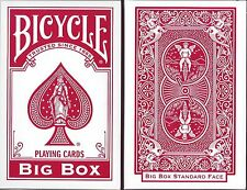 1 DECK Bicycle Big Box jumbo-size playing cards FREE USA SHIP!
