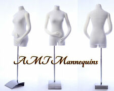 Female mannequin torso w/ pinnable body, arms, hands, on sale dress form-RB