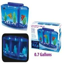 Penn Plax Deluxe Triple Betta Bow Aquarium Tank, 0.7-Gallon Pet Supplies Fish &