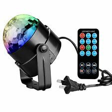 Disco DJ Stage Light Club Party Crystal Ball Effect RGB Sound Activated LED Ligh