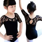 Child Girl Lace Ballet Gymnastics Training Stage Show Leotards Clothes 4-16Y A80