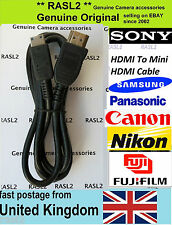 HDMI To Mini HDMI Cable Original Sony Panasonic Nikon Canon Fuji Digital Camera