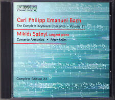 C.P.E. BACH Keyboard Concerto Vol.11 Miklos Spanyi BIS CD Carl Philipp Emaunel