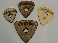 RIVERSONG WOODEN GUITAR PICKS Combo Pack  MADE IN CANADA 4 PICK PACK