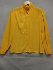 Z7061 Country Sophisticates vintage 70s sunny yellow long sleeve buttonup blouse