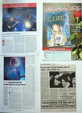 THE CURE / ROBERT SMITH  =  Lot 4  coupures de presse !!! FRENCH CLIPPINGS