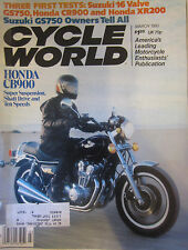 Cycle World Magazine March 1980 Three First Tests: Suzuki 16 Valve GS750 CB900