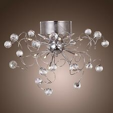 Modern Contemporary Crystal Chandelier With 9-Light Lamp Ceiling Lighting Chrome