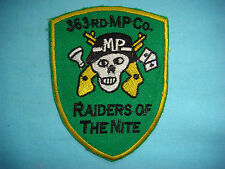 """VIETNAM WAR PATCH, US 363rd MILITARY POLICE COMPANY """"RAIDERS OF THE NITE """""""