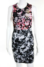 Topshop Multi-Color Floral Sleeveless Knee Length Bodycon Shift Dress Size 2 New
