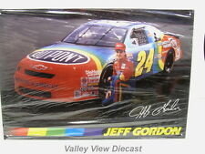 JEFF GORDON 1995 #24 DUPONT CHEVROLET MONTE CARLO METAL SIGN - NEW