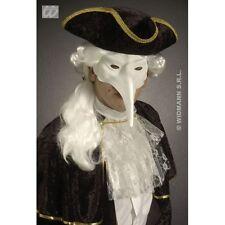 MASCHERA VENEZIANA CON LUNGO NASO BIANCO paintable per Masquerade Carnival Costume