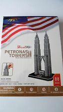 3D Puzzle Petronas Towers (51,5cm hoch) Cubic Fun Turm Hochhaus Skycraper Tower