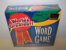 New Barnes & Noble Exclusive World's Greatest! Word Game - Algonquin Games