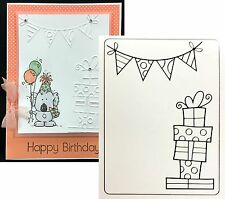 "Embossing Folder ""PRESENTS AND BANNER"" DARICE 1219-231 Birthday All Occasion"
