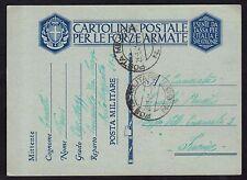 POSTA MILITARE 1941 Franchigia da PM 68 a Firenze (M5)