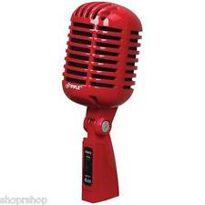 PYLE PDMICR42R Classic Retro-Style Dynamic Vocal Microphone Red NEW