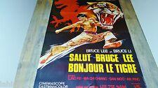 BRUCE LEE bonjour LE TIGRE ! magnifique affiche cinema karate kung-fu 1976