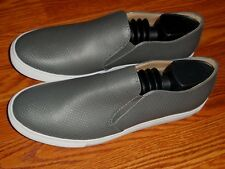 Public Opinion Dante Grey Perforated Slip On Shoes Mens Size 10 M