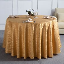 1M Round Tablecloth Table Cover Cloth Elegant Flower Pattern Party Banquet