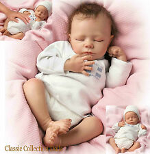 "Ashton Drake ""Ashley"" realistici respirazione newborn baby girl doll-new - in magazzino!"