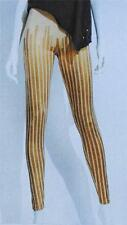 NWT $48 Authentic Icon by American Idol Foil Striped Stretch Leggings Size S