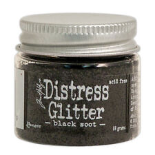 Tim Holtz   Distress Glitter 18gm jar  BLACK SOOT