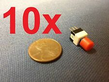 10x Push Button Latching Tactile Switch 7x7mm Blue Button 3-Pin Micro on/off b10