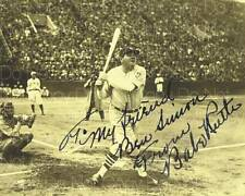 Babe Ruth The Great Bambino King Swing 8X10 photo picture signed autograph RP