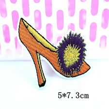 1pcs Embroidered Cloth Iron On Patch Sew Motif Applique High-heeled shoes MA50