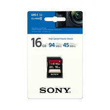 Genuine Sony 16GB Expert SD SDHC Card Class 10, 94mb/s, Retail Pack