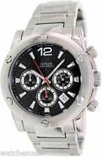 Guess Men's Water ProBlack Dial Stainless Steel Chronograph Watch U15035G2