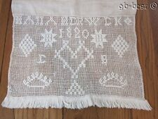 EARLY Dated 1820 PA Show Towel HEARTS Stars Homespun Antique Hana Werwik