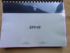 Werkstatthandbuch  MASERATI Motor - Moteur 3200 GT deutsch - francais