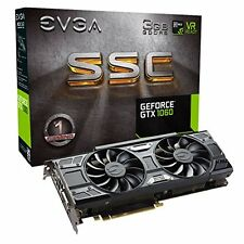 NEW EVGA GeForce GTX 1060 3GB SSC GAMING ACX 3.0, 3GB GDDR5, LED, DX12 OSD Sup