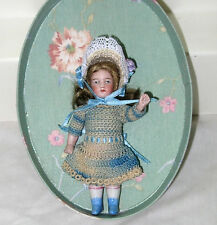 "Antique 5"" All Bisque Hertwig Doll   Germany"
