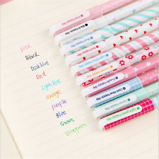 10pcs Mixed Color Office School 0.38mm Pen Nice Colorful Writing Ball Point Pens