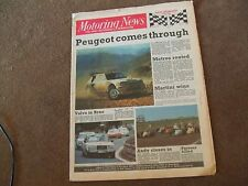Motoring News 11 June 1986 Acropolis Rally Brno TCC Imola F3000 Willhire Preview