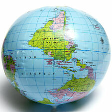 PVC Inflatable Blow Up World Globe 40CM Earth Atlas Ball Map Geography Toy cy