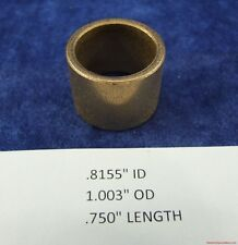 "Bronze Bearing Bushing Sleeve 13/16""ID x 1 "" OD x ¾"" Length Lot of 3 Bearings"