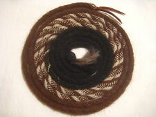 "Mane Horse Hair Mecate 22 ft long  5/8"" dia.  Pattern V4 -- Changing Colors"