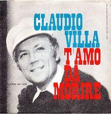 Claudio Villa-T'Amo Da Morire/Acquerello Napoletano 45 giri Mint Promotional