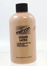 Liquid Latex Light Flesh 9oz Mehron Flesh Tan Soft Beige Liquid Makeup Face